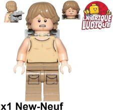 Lego - Figurine Minifig Star Wars Luke Skywalker + support yoda sw907 75208 NEUF