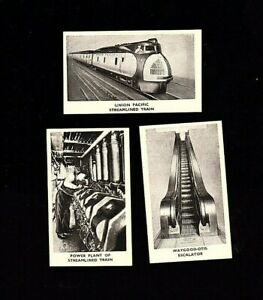 3-1935 Rothman's LTD Tobacco Cards Modern Inventions #'s 1,2 & 3