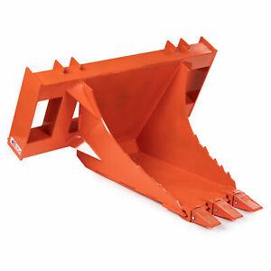 Titan Attachments USA Made Orange Extreme HD Stump Bucket Tree Spade Scoop