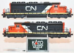 Canadian National CN (IC) 6256 SD40-2 Kato 176-4954 N Scale AP16.10