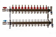12 Loop 1 Stainless Steel Manifold For Radiant Heating For 12 Pex Tubing