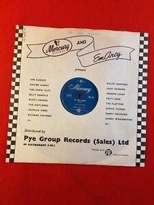 "Vintage 78rpm 10"" Record : Mercury MT.130 : THE PLATTERS - It Isn't Right :1956"