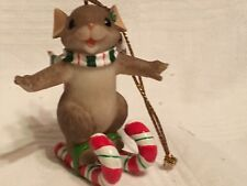 "Charming Tails ""Sweetie Skier"" Fitz & Floyd Christmas Ornament"