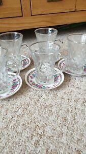 Glass Tea Cups/Turkish Coffee Tea Set Espresso  Set of Five