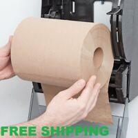 "12 CASE 8"" Standard Duty Brown Towel Paper Commercial Dispenser Kraft Roll 600'"