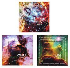 United Nations UN 2013 New York, Geneva & Vienna Space Souvenir Sheet Set