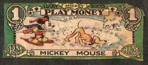 """MICKEY PLAY MONEY - """" MICKEY MOUSE """" with Pluto"""