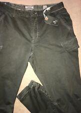 JET LAG SLIM 36 /Fits 34 x 32 Vintage Olive Multi-Pocket Zip Tapered CARGO PANTS