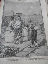 Kurdes contre Arméniens Old Print 1911