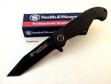 Smith & Wesson CKTACB Tactical L/Lock Folding Knife Tanto Blade Composite Handle