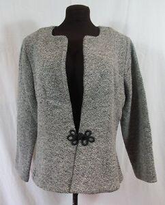 Black White Small Check Wool Blazer Jacket Hand Made Medium
