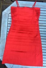 Little red dress with straps, size 36