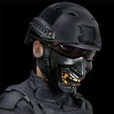 Tactical Half Face Mask BB Evil Demon Monster Kabuki Helmet Samurai Hannya Oni
