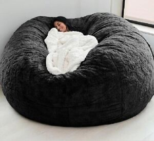 Giant Bean Bag Cover Big Round Soft Sofa Bed Cover Living Room Furniture