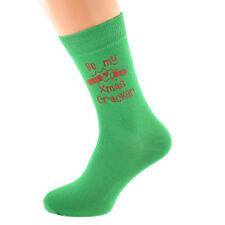 SII la mia Christmas Cracker Di Natale Verde Calze Taglia 5-12 X6N710