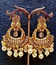 Ethnic Indian Bollywood Wedding Polki Earrings Jhumka Jhumki Bridal Jewelry