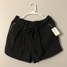 NWT Sundance Black Tie Waist Front Shorts Women's 8