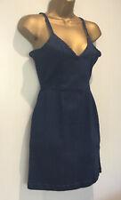 Select V Neck Bodycon Denim Dress Size 10 BNWT
