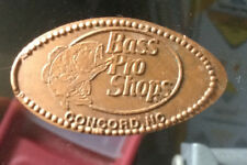 """Bass pro shop Concord NC pressed elongated COPPER  """"Free Shipping""""A837"""