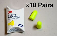 3M E-A-R Classic Earplugs, Pillow Paks, Uncorded, Foam, Yellow, 10 Pairs
