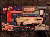 NERF N-Strike Modulus Battlescout ICS -10 Blaster w/ HD Camera and 10 Darts *NEW