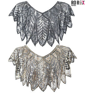 Ro Rox Marion 1920s Peaky Blinders Flapper Shrug Wrap Gatsby Party Scarf Shawl