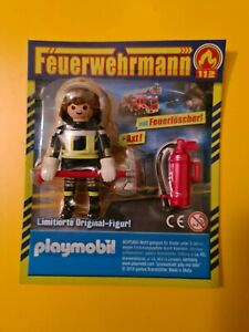 "PLAYMOBIL  Limited Edition   FEUERWEHRMANN  ""  112  "" mit  Atemmaske + Axt"