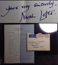 1967 Norah Lofts Autograph Best-selling British Book Author TLS / Detroit Riots