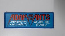 Adam and the Ants we are the family SMALL SUPERSTRIP punk music patch Sew On