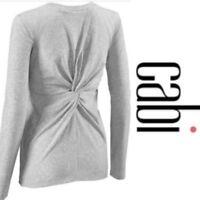 CAbi 3061 Twist Grey/Gray Turn Tee Long Sleeve sz Medium