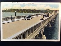 Vintage Postcard>1915-1930>Severn River Bridge>Annapolis>Maryland