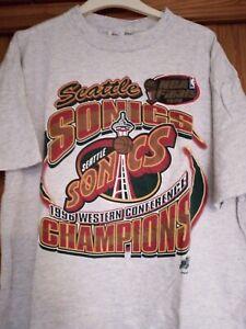 Seattle Sonics Supersonics Basketball Shirt XL Rare
