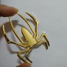 Car Styling 3D Spider Car Truck Motor Metal New Cute Animal Shape Emblem Golden