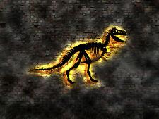 Leuchtbild Dino Saurier Dinosaurier Skelett Bild LED Wandbild Aufkleber Neonsign