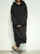 Hot! Women's Long Sleeve Loose Casual Plus Sweatshirt Hoodies Long Maxi Dress