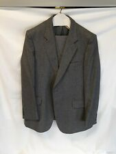 Vintage WOODMERE 3PCS Suit 43R Blue Gray HERRINGBONE Tweed Jacket Vest & Pants
