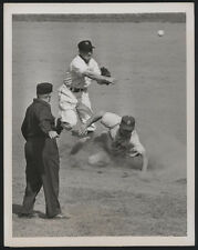 1949 Orig DODGERS Press Photo - Forced On Teammate's Grounder