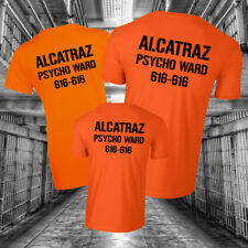 ALCATRAZ TSHIRT TEE TOP Halloween Costume Prison Psycho Ward Mens Kids Womens