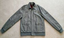 Affliction Cyanide Faux Leather Jacket - Men Size Large - Damaged Collar