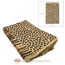 "100 Leopard Print Gift Bags Merchandise Bags Paper Bags 6""x 9"""