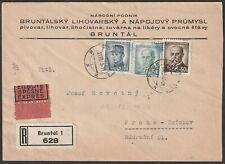 Rekokuvert aus Bruntal vom. 12.12.1946