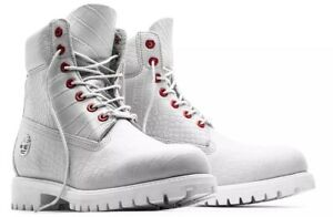 """TIMBERLAND LIMITED RELEASE EXOTIC WHITE SERPENT 6"""" MENS BOOTS 9.5 NEW AUTHENTIC"""