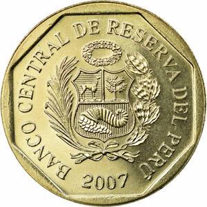 [#589266] Coin, Peru, Nuevo Sol, 2007, Lima, MS(63), Copper-Nickel-Zinc