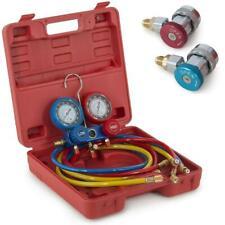 New Portable R134 R12 R22 HVAC A/C Refrigeration Kit AC Manifold Gauge Set Tools