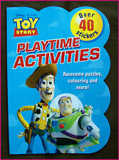 DISNEY TOY STORY COLOURING IN & ACTIVITY STICKER BOOK Colour in / Color BUZZ New