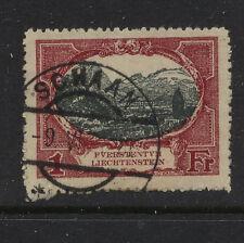 Liechtenstein   69  used    1  fr        catalog  $55.00       MS0223