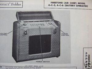 FIRESTONE AIR CHIEF 4-C-3 & 4-C-6 RADIO PHOTOFACT