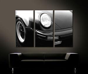VINTAGE DAVANTI DETTAGLI PORSCHE 911 TURBO Arte Tela Lounge Immagine Stile