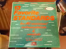 13 FAVOURITE STANDARDS FOR ALL MUSICIANS JAMEY AEBERSOLD 2LP
