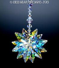 m/w Swarovski Crystal BIG AB 24mm Lily Octagon Suncatcher Lilli Heart Designs